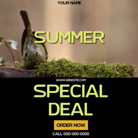 SUMMER DEAL AD SOCIAL MEDIA