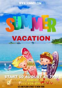 summer A4 template