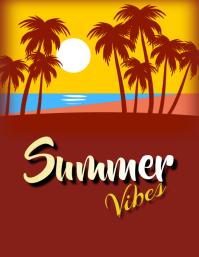 summer Flyer (US-Letter) template
