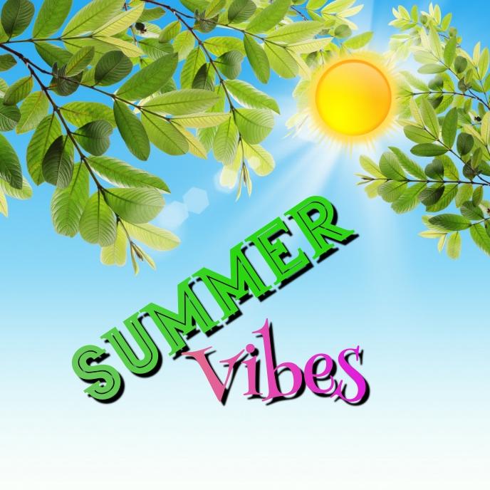 summer Pochette d'album template