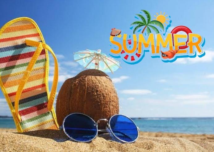 Summer Kartu Pos template