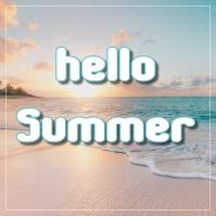 Summer Post Instagram template