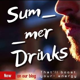 summer drink video template