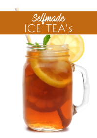 Ice Tea selfmade Cocktail Recipes Magazine Promo A4 template