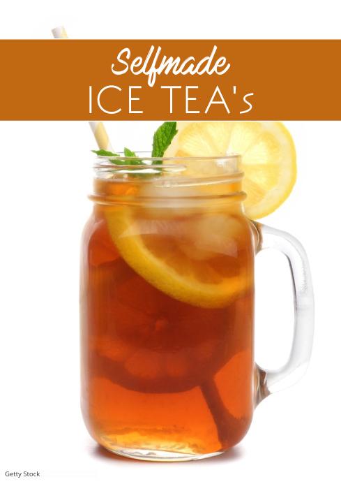 Ice Tea selfmade Cocktail Recipes Magazine Promo