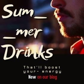 summer drinks post template