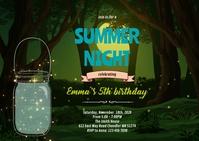 Summer enchanted night invitation A6 template