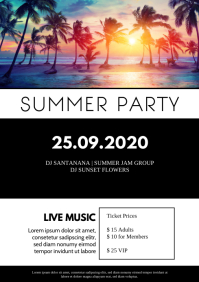 Summer end Event concert Musical Ad A4 template