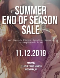 Summer End of Season Sale Flyer Template