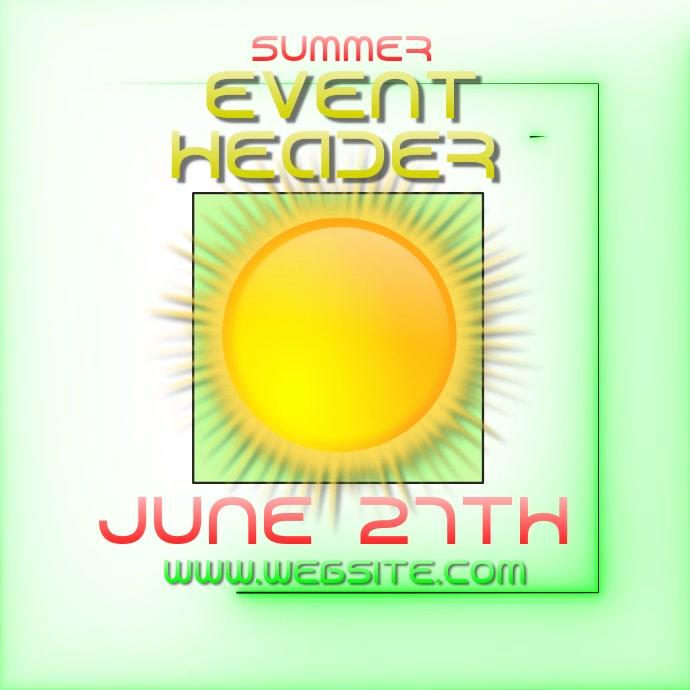 summer event ad digital video template