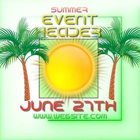 summer event ad digital video template