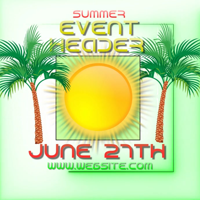 summer event ad digital video template Logótipo