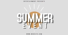 SUMMER EVENT AD SOCIAL MEDIA Gedeelde afbeelding op Facebook template