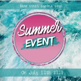 Summer event Quadrato (1:1) template