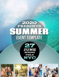 SUMMER EVENT DIGITAL VIDEO Flyer Template Folder (US Letter)