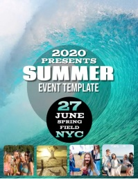 SUMMER EVENT DIGITAL VIDEO Flyer Template