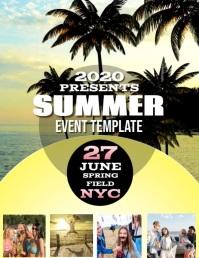 SUMMER EVENT DIGITAL VIDEO Flyer Template