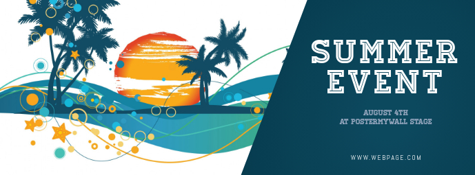 Summer Event Facebook Cover Template