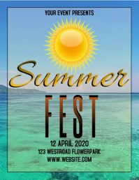 summer EVENT FLYER POSTER TEMPLATE
