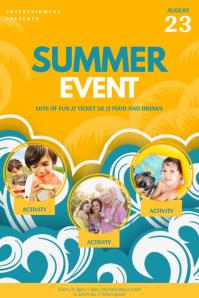 Summer Event Flyer Template for kids