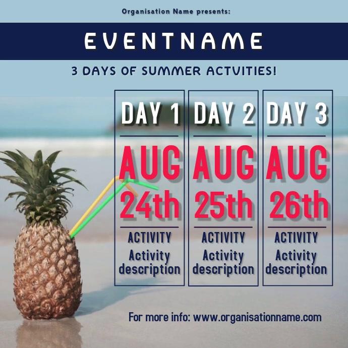 Summer event instagram flyer