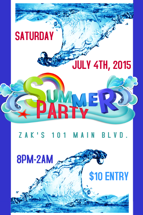 SUMMER EVENT PARTY FLYER Poster template