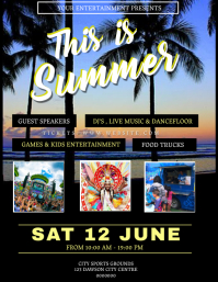Summer Event Party Flyer Template