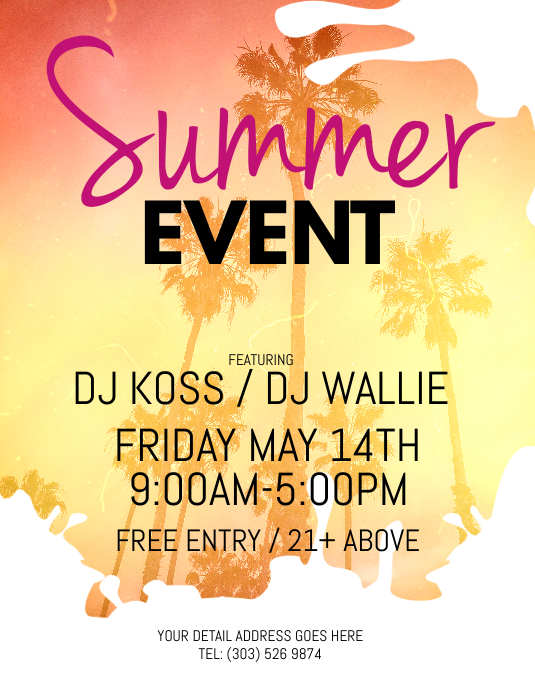 Summer event flyer template postermywall summer event flyer customize template maxwellsz