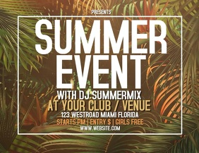 SUMMER EVENT VIDEO FLYER POSTER TEMPLATE