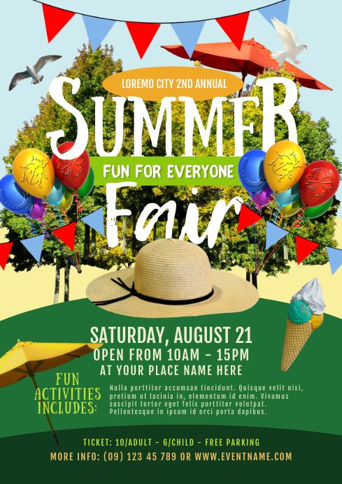 Summer Fair Flyer Template
