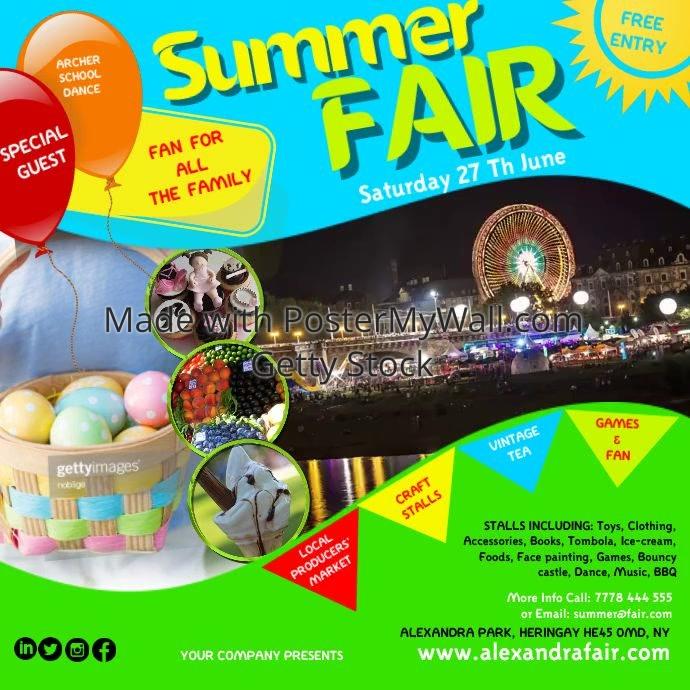 Summer Fair Video1 Template Postermywall