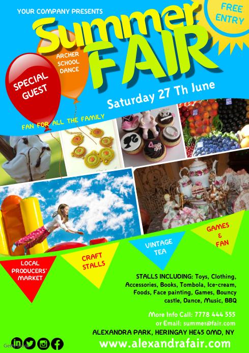 Summer fair15 A4 template