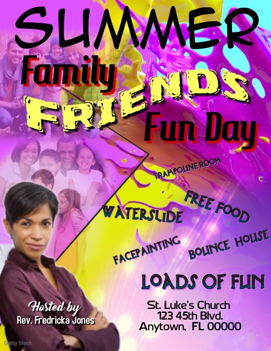 Summer Family Fun Day 传单(美国信函) template