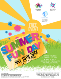 Summer Family Fun Day Event Flyer Template