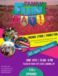 Summer Family Fun Day Video Flyer Template