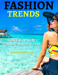 SUMMER FASHION AD FLYER TEMPLATE Pamflet (Letter AS)