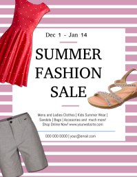 Summer Fashion Clearance Sale Template