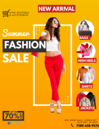 Summer Fashion Sale Flyer Template Volante (Carta US)
