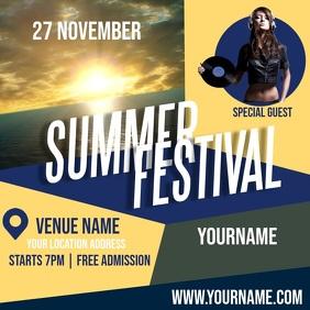 SUMMER FEST FESTIVAL CONCERT AD TEMPLATE Logo