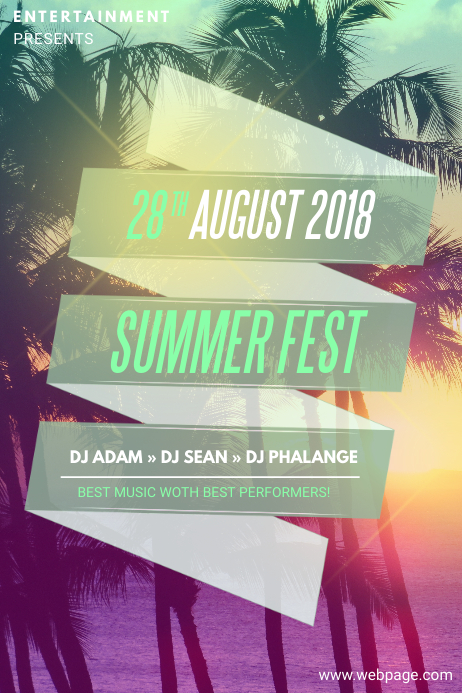 Summer fest flyer template for summer events postermywall summer fest flyer template for summer events maxwellsz
