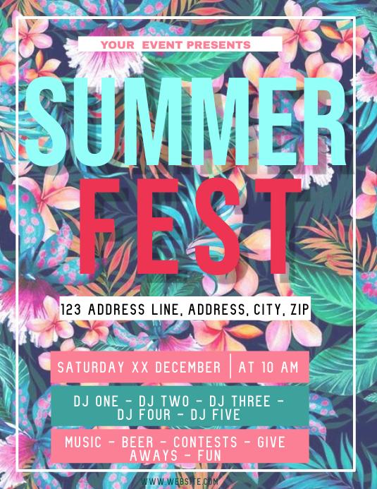 Summer Festival ad Flyer Template