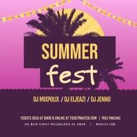 Summer Festival Animated Instagram Post