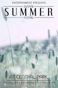 Summer Festival Event Flyer Template
