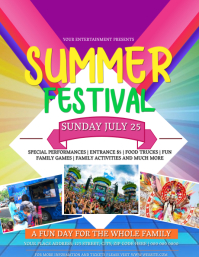 Summer Festival Event Flyer Template