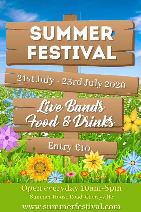 Summer Festival Event Poster Template