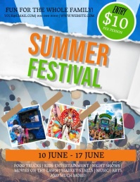 SUMMER Festival Wonderland Flyer Template