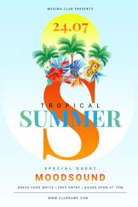 Summer Flyer Cartaz template