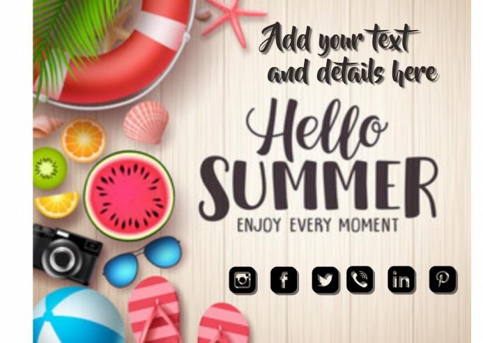 Summer Flyer Kartu Pos template