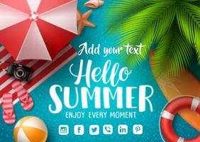 Summer Flyer Postkort template