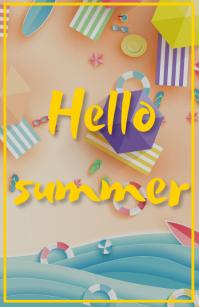 Summer flyer Tabloid template